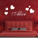 Personalised Decals Kids Hearts