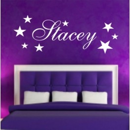 Personalised Wall Art Stickers Kids Stars