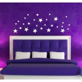 Wall Art Stickers Stars, Bedroom, Lounge, Hall, Nursery, Kids, Bathroom
