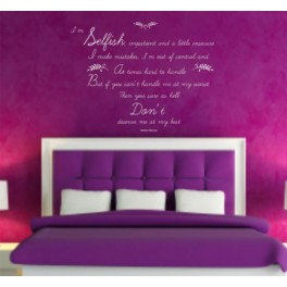 Marilyn Monroe Quote,Vinyl Wall Art Sticker Decal Mural Bedroom, Lounge, Study