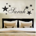 Your Name Personalised Wall Art Stickers Kids Stars