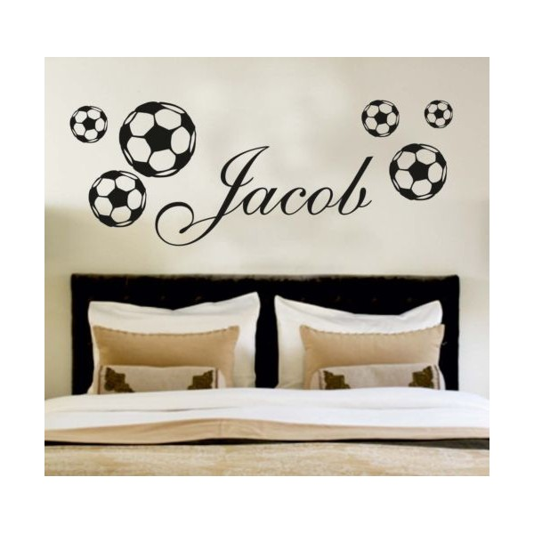 Your Name Personalised Wall Art Stickers Kids Football Part 44
