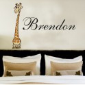 Your Name Personalised Wall Art Stickers Kids Giraffe