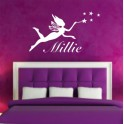PERSONALISED NAME with Fairy wall art Sticker Kids, Bedroom, Playroom, Girls