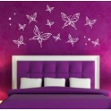 Butterflies Vinyl Wall Art Stickers, mixed size Bedroom, Nursery, Kids, Children