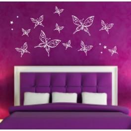Butterflies Vinyl Wall Art Stickers, mixed size Bedroom, Nursery, Kids, Children