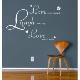 Live Laugh Love Wall Art Sticker Quote Decal