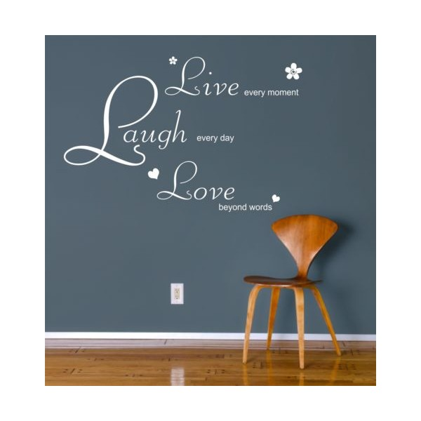 live laugh love wall art sticker quote decal live laugh love wall stickers quotes by parkins