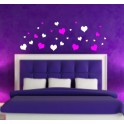Wall Art Stickers Hearts, Bedroom, Lounge, Hall, Nursery, Kids, Bathroom