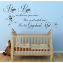 Gingerbread Man Nursery Rhyme - Vinyl Wall Art Sticker, Kids, Nursery, bedroom