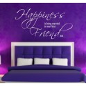 Happiness is Being Married to Your Best Friend, Vinyl Wall Art Sticker, Bedroom