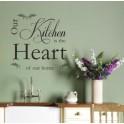 Vinyl Wall Art Sticker Quote Kitchen Heart, Decal Vinyl v2, Dining Room