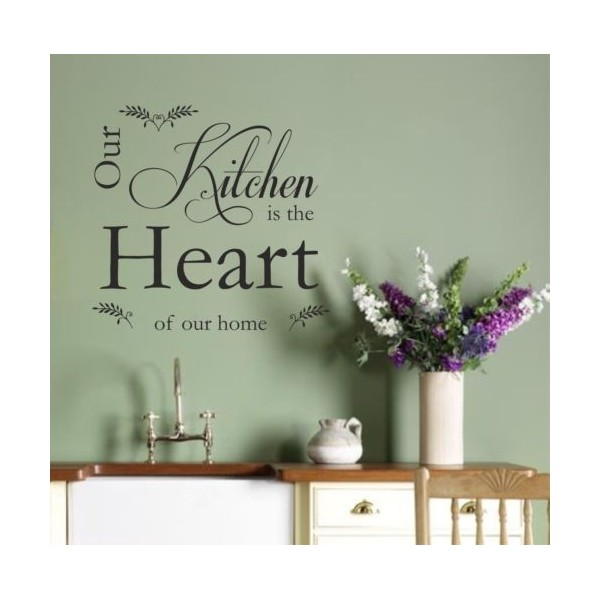 Vinyl wall art sticker quote kitchen heart decal vinyl v2 - Dining room wall art stickers ...