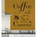 Coffee Quote Vinyl Wall Art Sticker Decal Mural, Kitchen, Utility Room, Cafe