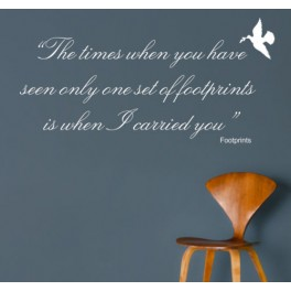 Wall Art Sticker - Footprints Quote Decal, Bedroom, Kitchen, Dining Room, Hall