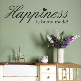 Wall Art Sticker Quote Happiness - Kitchen, Lounge