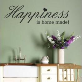 Wall Art Sticker Quote Happiness - Kitchen, Lounge