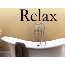 Wall Art Sticker Quote Bathroom, Lounge, Bedroom RELAX
